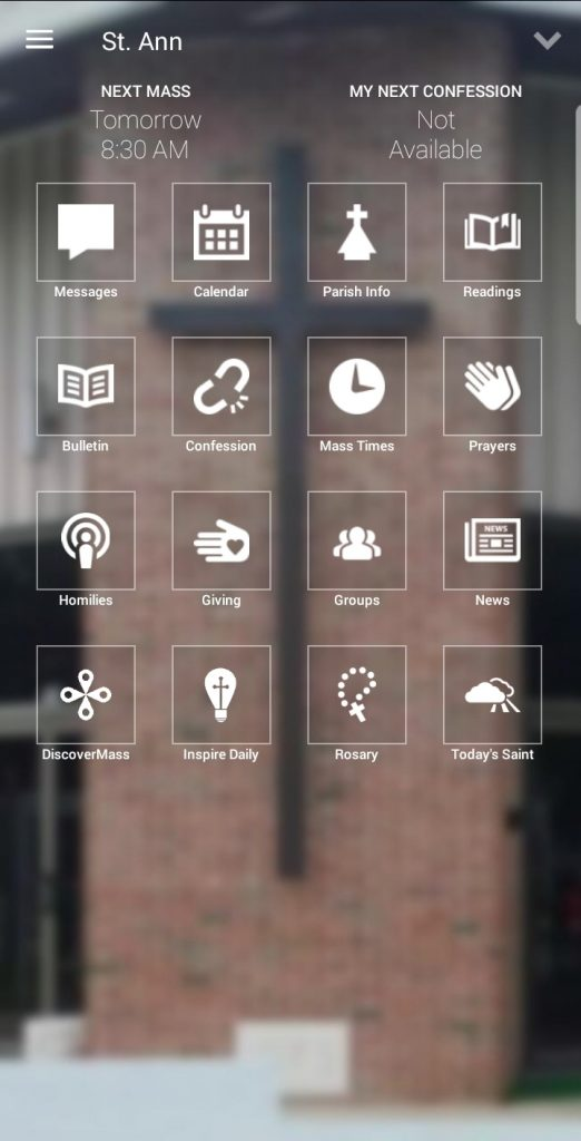 St. Ann myParish App Screenshot